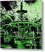 Green Savannah Metal Print