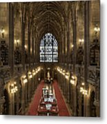The Main Library Hall Metal Print