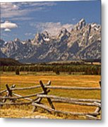 The Majestic Tetons Metal Print