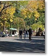 The Mall In Central Park Metal Print