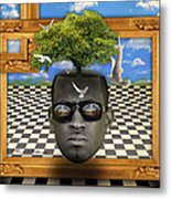 The Man And The Tree  Metal Print