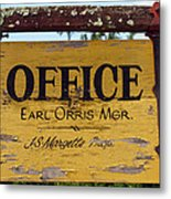 The Manager Metal Print
