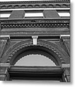 The Manley Popcorn Building Bw Metal Print
