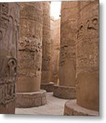 The Massive Columns In The Hypostyle Metal Print