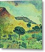The Maures Mountains Metal Print by Henri-Edmond Cross