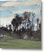 The Meadow Lined With Trees  Metal Print