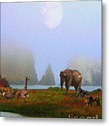 The Menagerie . Painterly Metal Print by Wingsdomain Art and Photography