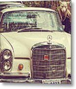 The Mercedes Sheep Metal Print
