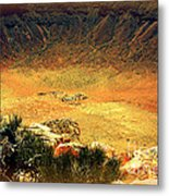 The Meteor Crater In Az 1 Metal Print
