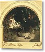 The Midsummer Night's Fairies Metal Print by Robert Huskisson