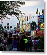 The Midway Lights Up Metal Print
