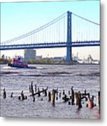 The Mighty Delaware River Metal Print