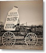 The Milk Wagon Metal Print
