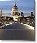 The Millennium Bridge Looking North Metal Print