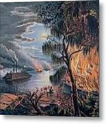 The Mississippi In Time Of War Metal Print