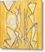 Unique Abstract Art Giclee Canvas Print Original Painting The Couple Decorator Line Art Yellow White Metal Print