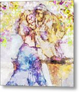 The Monk And The Maiden Metal Print by Jill Balsam