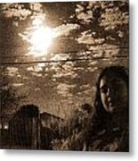 The Moon And The Girl Metal Print