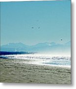 The Mountains And The Pier Metal Print