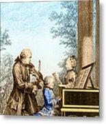 The Mozart Family On Tour 1763 Metal Print