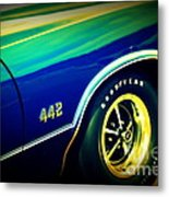 The Muscle Car Oldsmobile 442 Metal Print