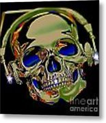 The Music Goes On Forvever Metal Print