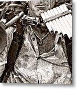 The Music Man - Monochrome Metal Print