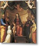 The Mystical Marriage Of Saint Catherine Metal Print by Fra Bartolomeo