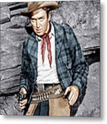 The Naked Spur, James Stewart, 1953 Metal Print by Everett