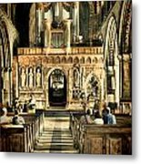 The Nave At St Davids Cathedral 2 Metal Print