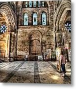 The Nave At St Davids Cathedral 5 Metal Print