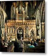 The Nave At St Davids Cathedral Metal Print