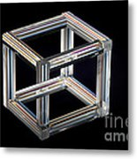 The Necker Cube Metal Print