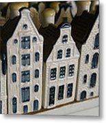 The Netherlands, Amsterdam, Model Houses Metal Print
