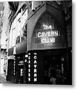 The New Cavern Club In Mathew Street In Liverpool City Centre Birthplace Of The Beatles Metal Print