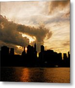 The New York City Skyline At Sunset Metal Print by Vivienne Gucwa