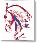 The Noble Nose - Red White Blue Metal Print