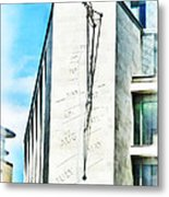 The Noon Sundial At The London Stock Exchange Metal Print