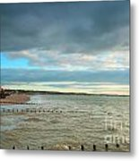 The North Bay Bridlington From The North Pier Metal Print