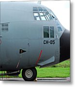 The Nose Of A Hercules C-130 Airplane Metal Print by Luc De Jaeger