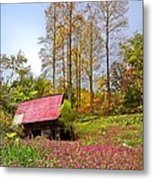 The Old Barn At Grandpas Farm Metal Print