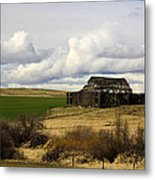 The Old Barn In The Meadow Metal Print