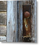 The Old Blue Door Metal Print