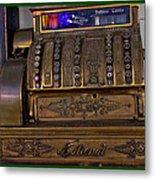 The Old Copper Cash Machine Metal Print