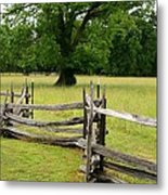 The Old Fence Metal Print by Valia Bradshaw
