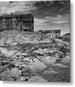 The Old Fisherman's Hut Bw Metal Print by Heiko Koehrer-Wagner