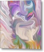 The Old Man Abstract Metal Print by Gina Lee Manley