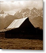 The Old Moulton Barn Metal Print