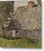 The Old Mulford House Metal Print by Childe Hassam