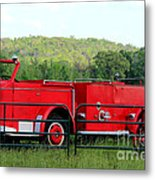 The Old Red Fire Engine Metal Print